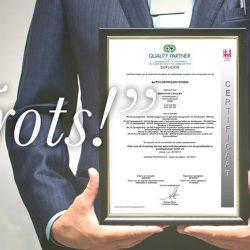 Met trots behaalden we het certificaat van het autocontrolesysteem